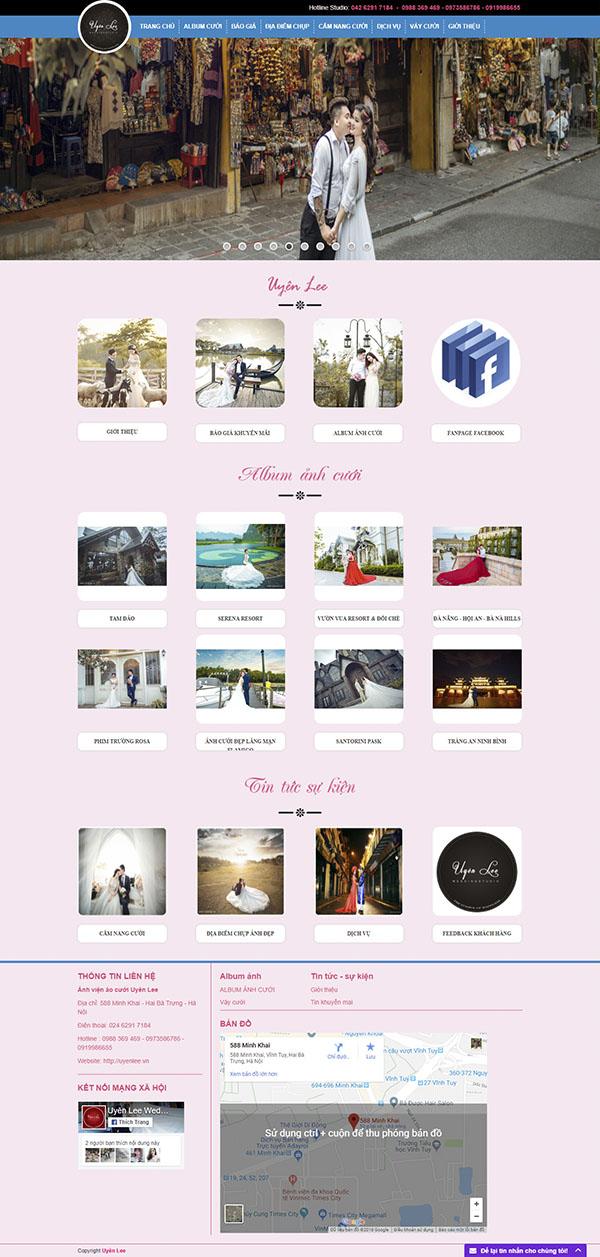 Thiết kế Mẫu website ảnh viện áo cưới AVAC04