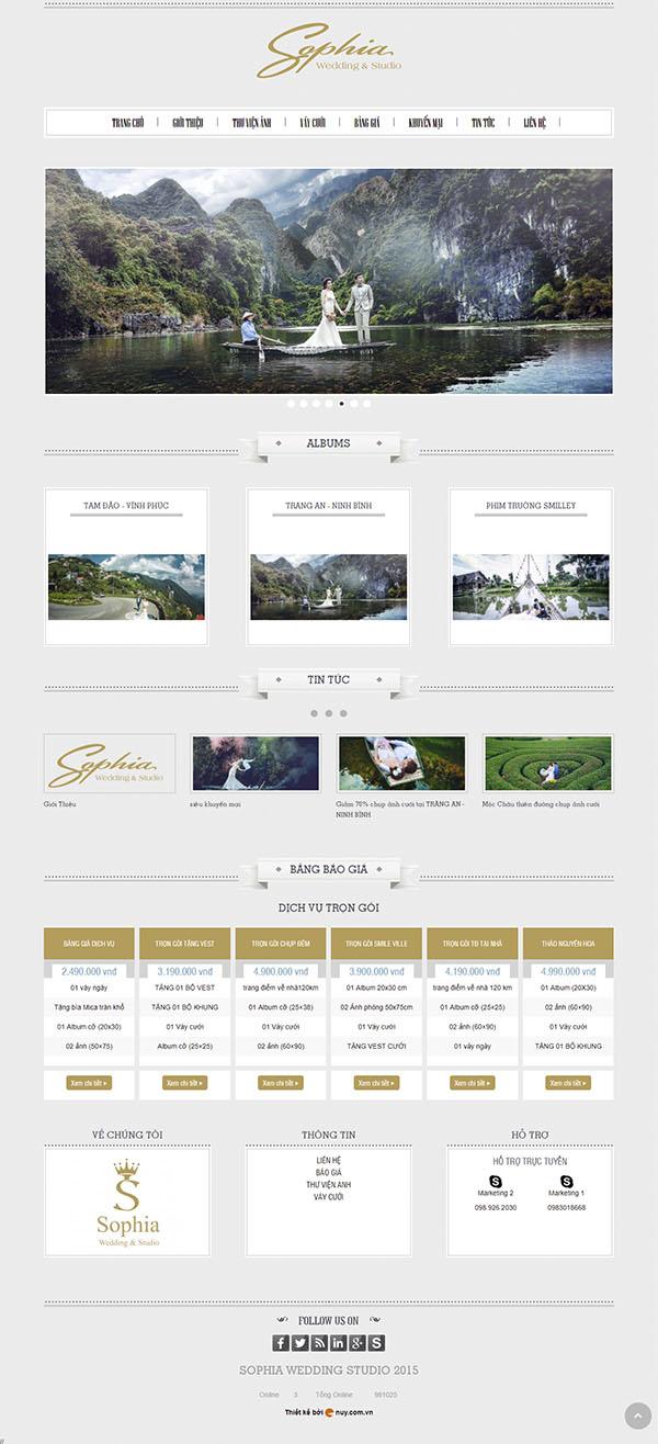 Thiết kế Mẫu website ảnh viện áo cưới AVAC06