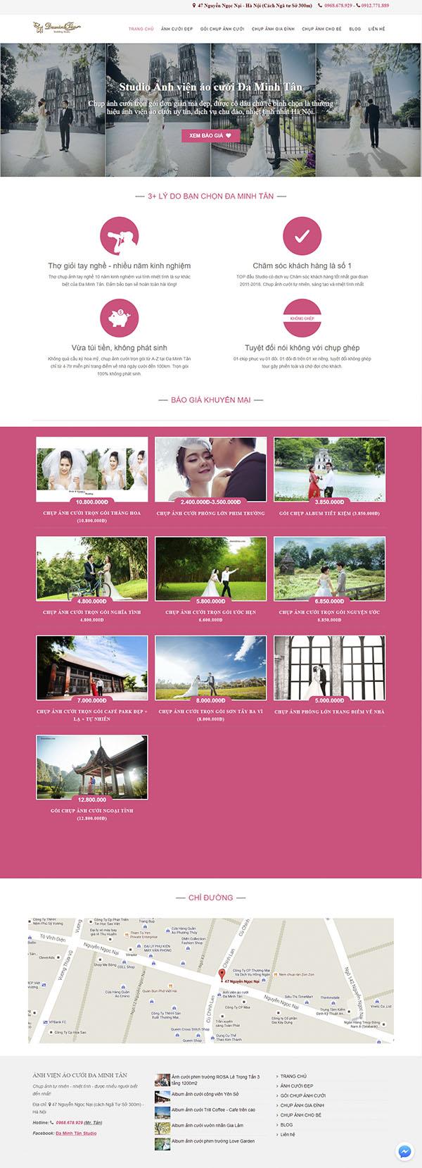 Thiết kế Mẫu website ảnh viện áo cưới AVAC07