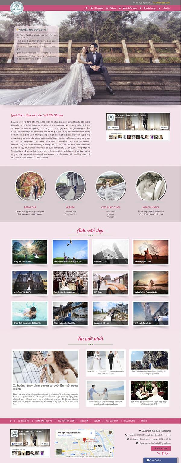 Thiết kế Mẫu website ảnh viện áo cưới AVAC09