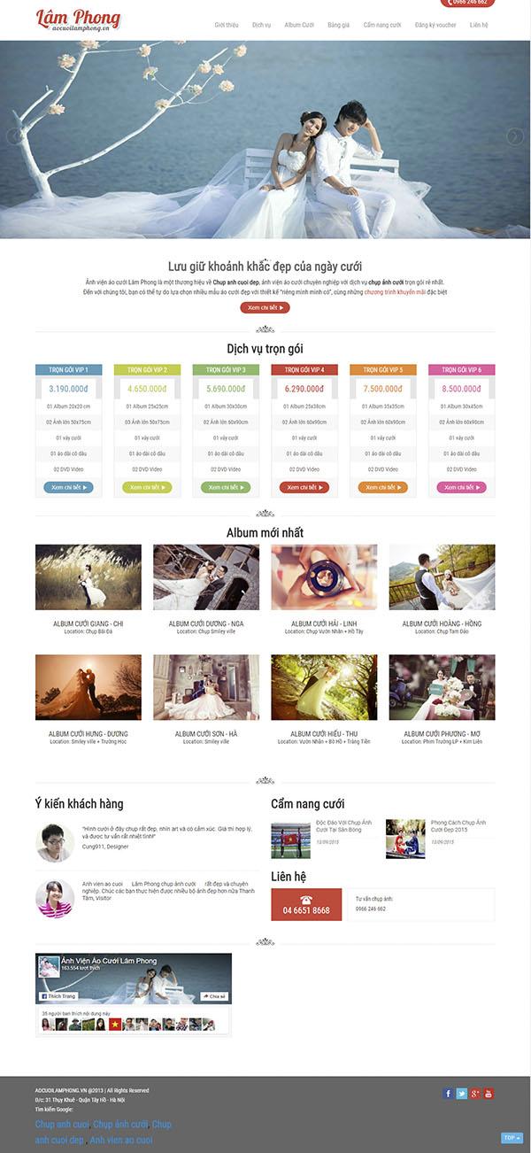 Thiết kế Mẫu website ảnh viện áo cưới AVAC10