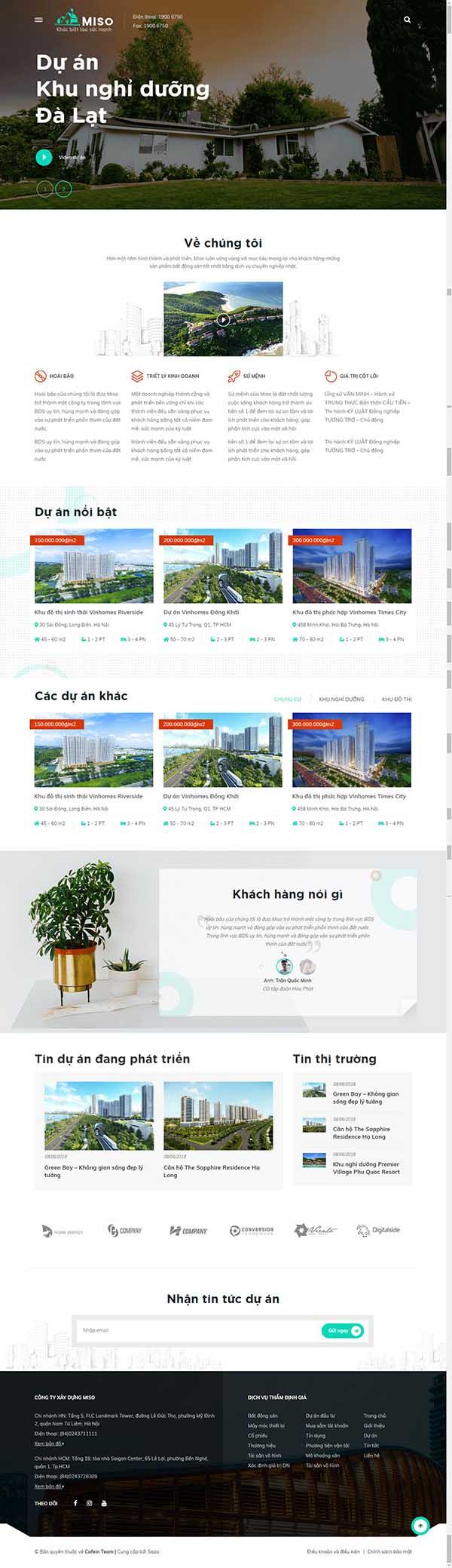 Thiết kế Mẫu website bất động sản 07