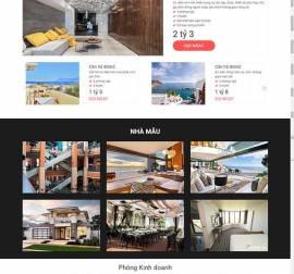 Mẫu website bất động sản 08