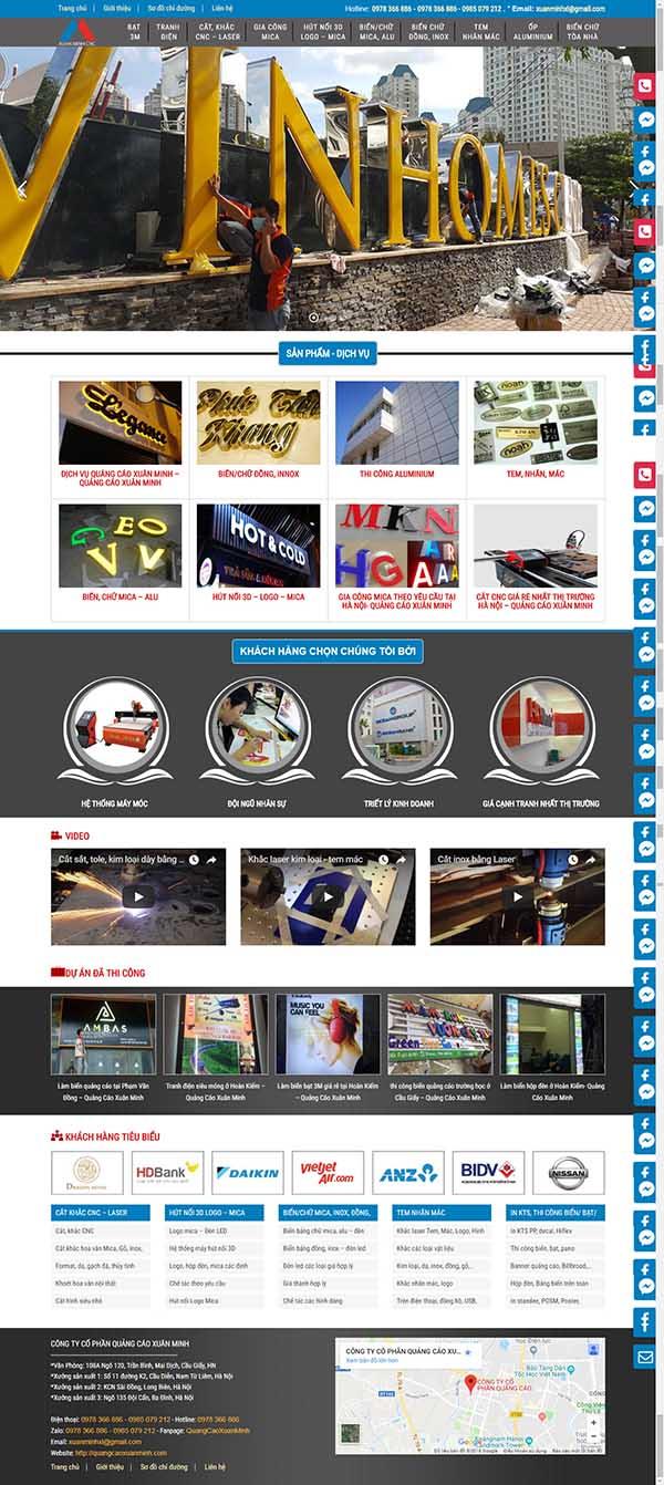Thiết kế Mẫu website biển quảng cáo 03