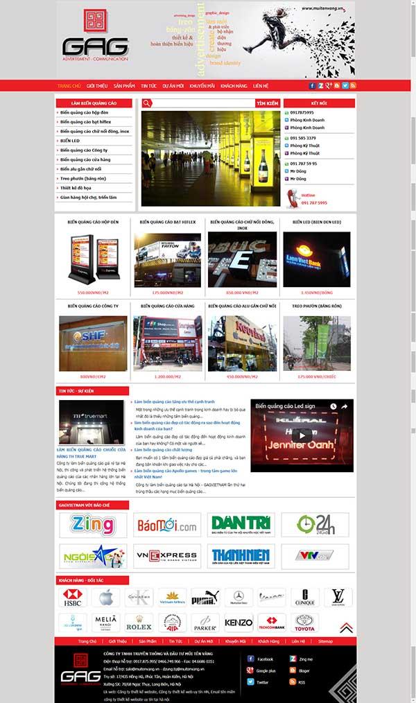 Thiết kế Mẫu website biển quảng cáo 04