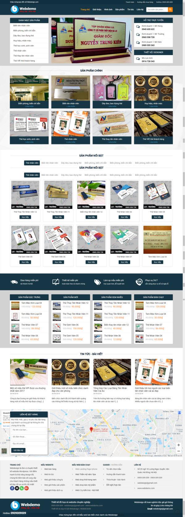 Thiết kế Mẫu website biển quảng cáo 07