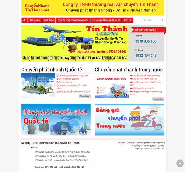 Thiết kế Mẫu website chuyển phát nhanh 04