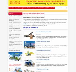 Thiết kế Mẫu website chuyển phát nhanh 05
