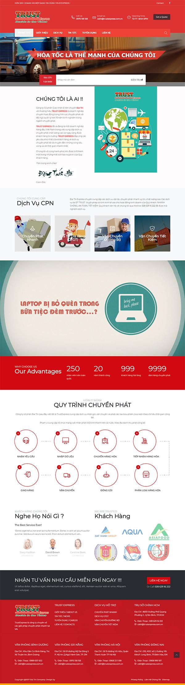 Thiết kế Mẫu Website Chuyển Phát Nhanh CPN02