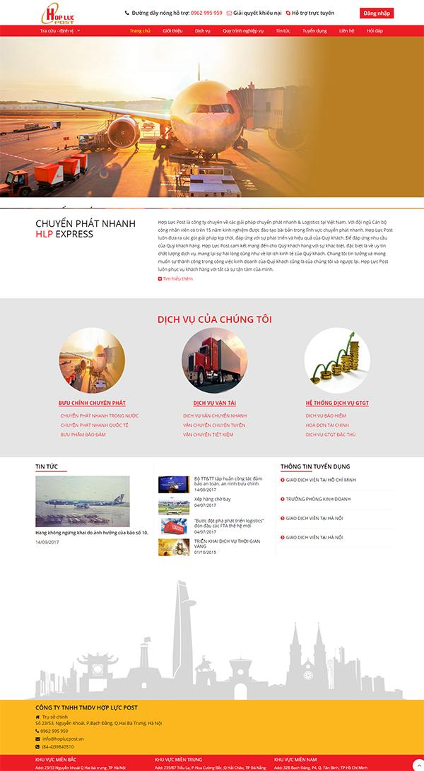 Thiết kế Mẫu Website Chuyển Phát Nhanh CPN03