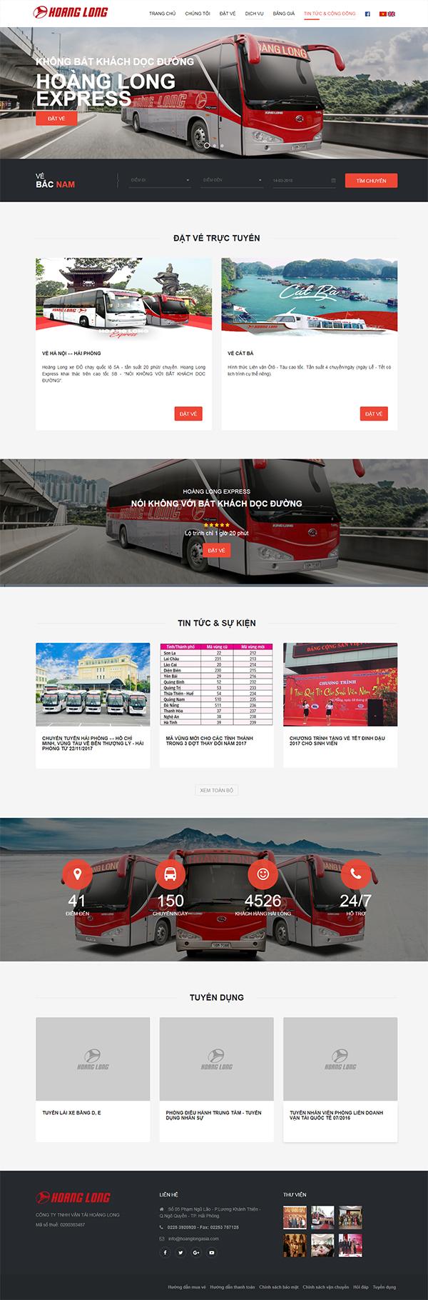 Thiết kế Mẫu Website Công Ty Vận Tải VT04