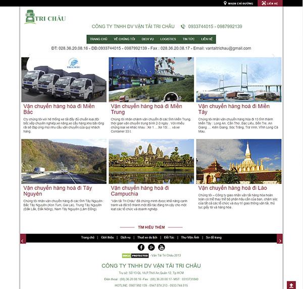 Thiết kế Mẫu Website Công Ty Vận Tải VT07