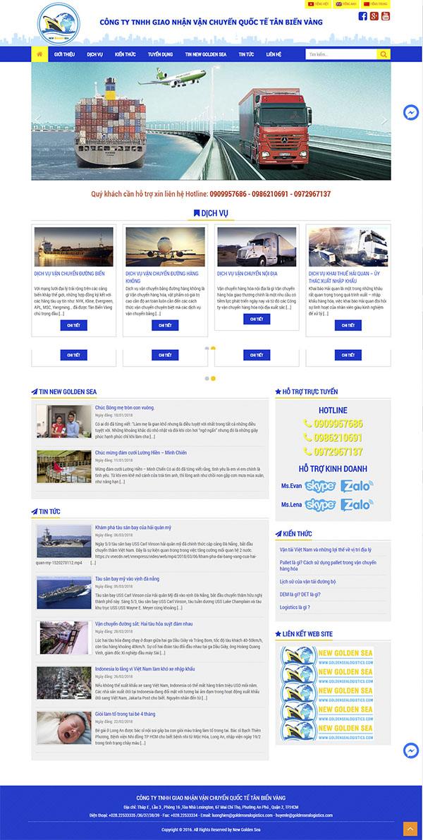 Thiết kế Mẫu Website Công Ty Vận Tải VT10