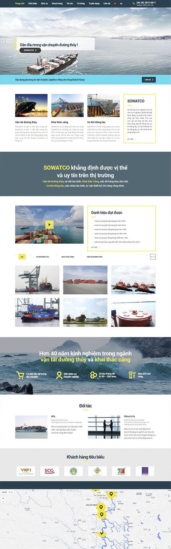 Thiết kế Mẫu Website Công Ty Vận Tải VT11