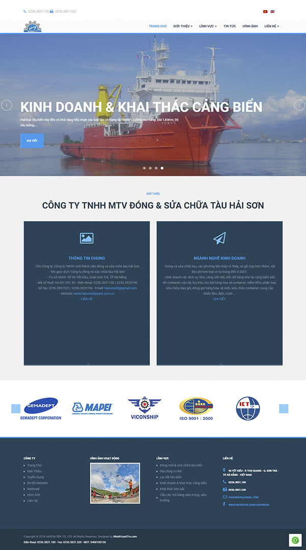 Thiết kế Mẫu Website Công Ty Vận Tải VT12