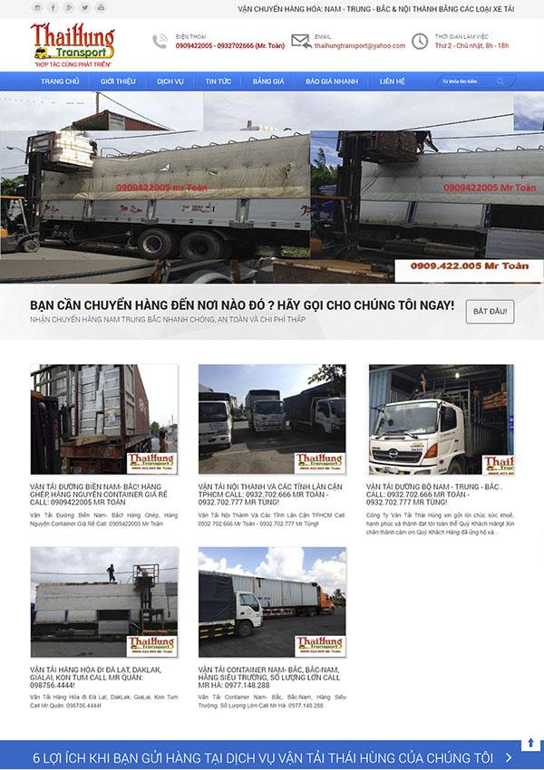 Thiết kế Mẫu Website Công Ty Vận Tải VT13