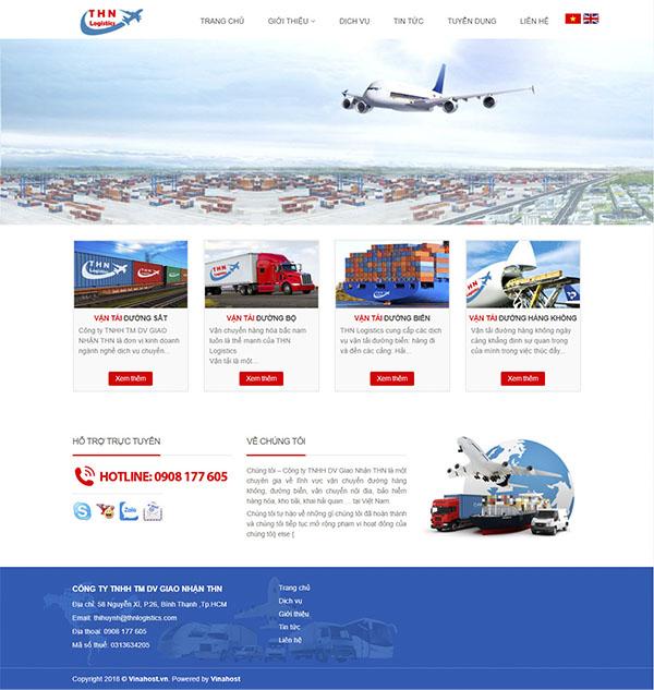 Thiết kế Mẫu Website Công Ty Vận Tải VT14