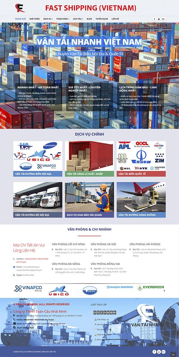 Thiết kế Mẫu Website Công Ty Vận Tải VT15