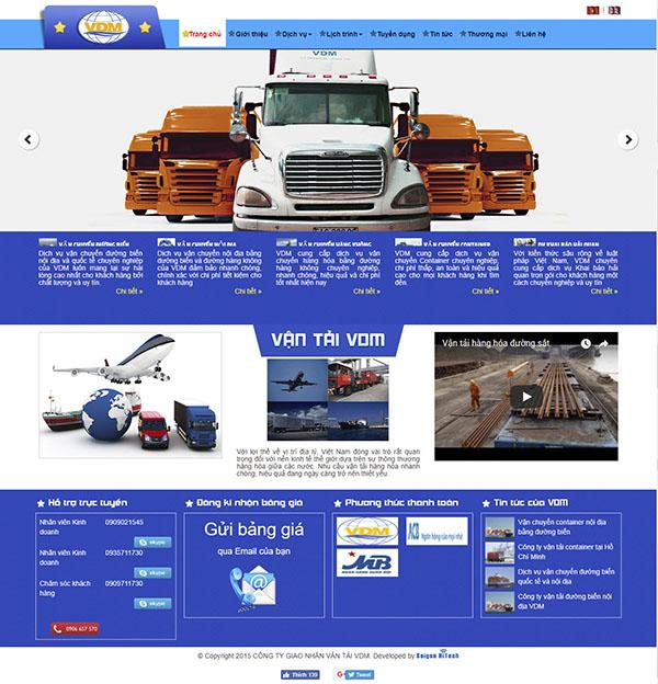 Thiết kế Mẫu Website Công Ty Vận Tải VT16