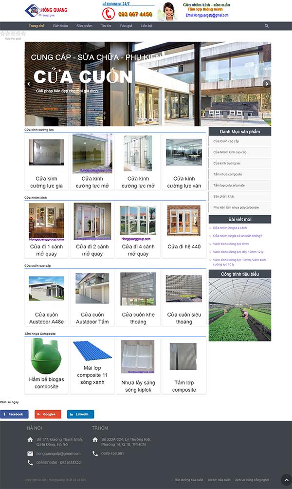 Thiết kế Mẫu Website Cửa Nhôm CN01