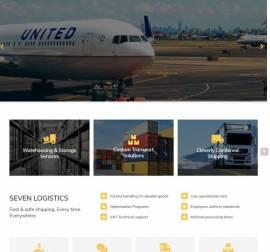 Mẫu website dịch vụ vận chuyển 01