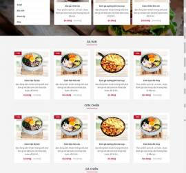 Mẫu website đồ ăn nhanh 01