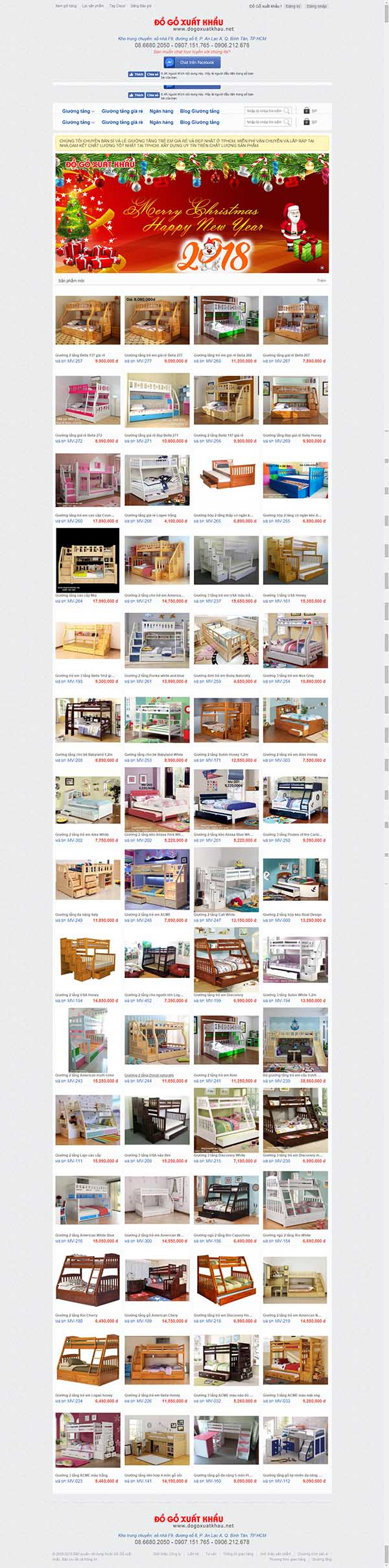 Thiết kế Mẫu website đồ gỗ 01