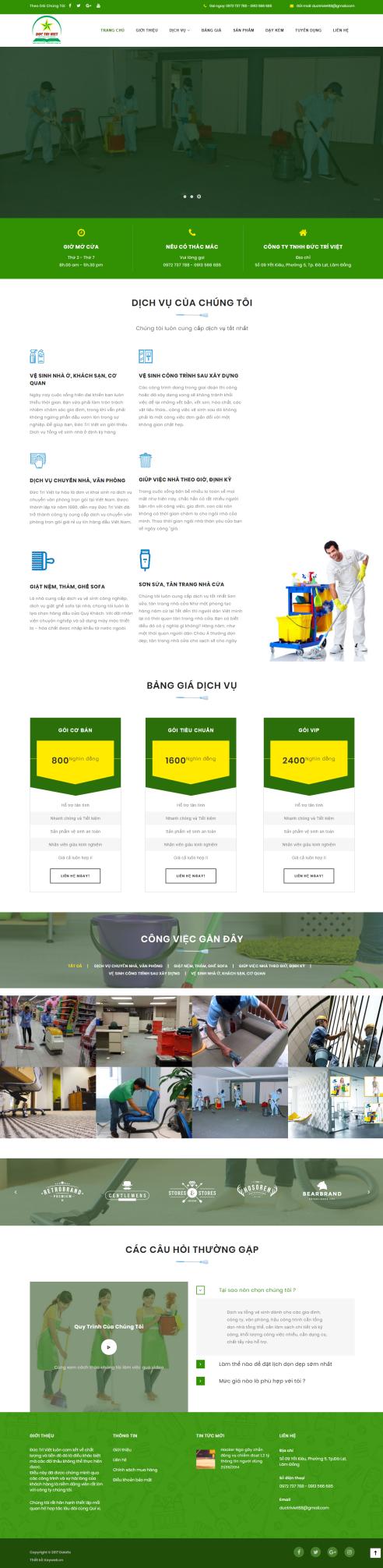 Mẫu website dọn nhà DN01