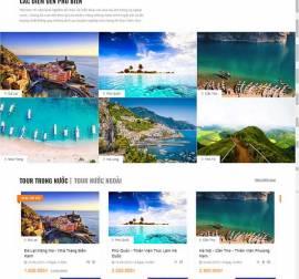 Mẫu website du lịch 10