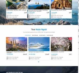 Mẫu website du lịch 11