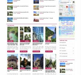 Mẫu website du lịch DL02
