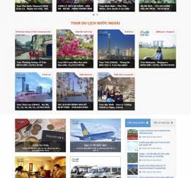 Mẫu website du lịch DL03