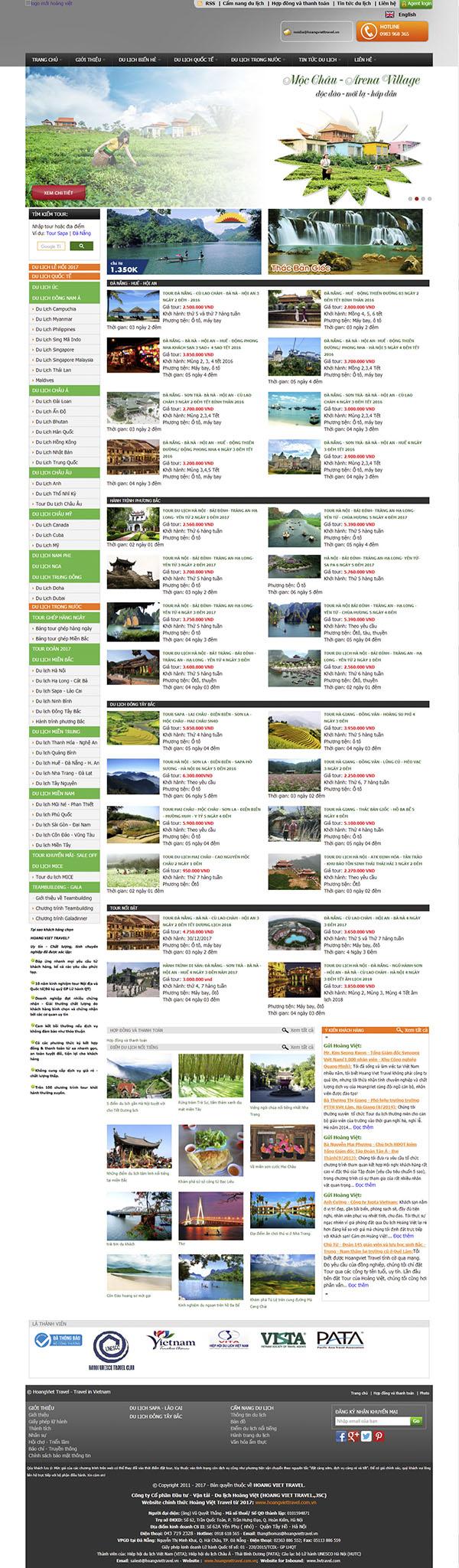 Thiết kế Mẫu website du lịch Dl04