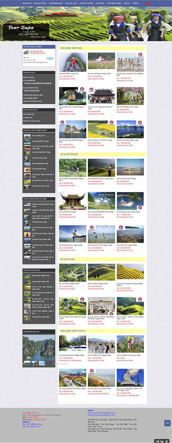 Thiết kế Mẫu website du lịch DL07