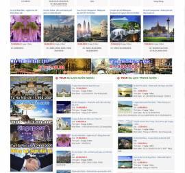 Mẫu website du lịch DL08