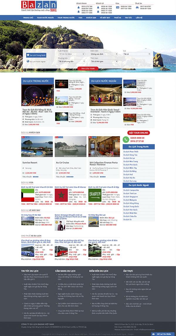Thiết kế Mẫu website du lịch DL09