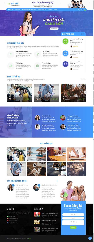 Thiết kế Mẫu website giáo dục đào tạo 02