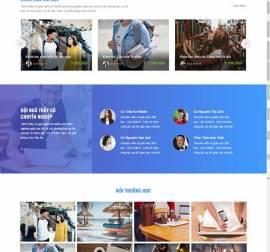 Mẫu website giáo dục đào tạo 02