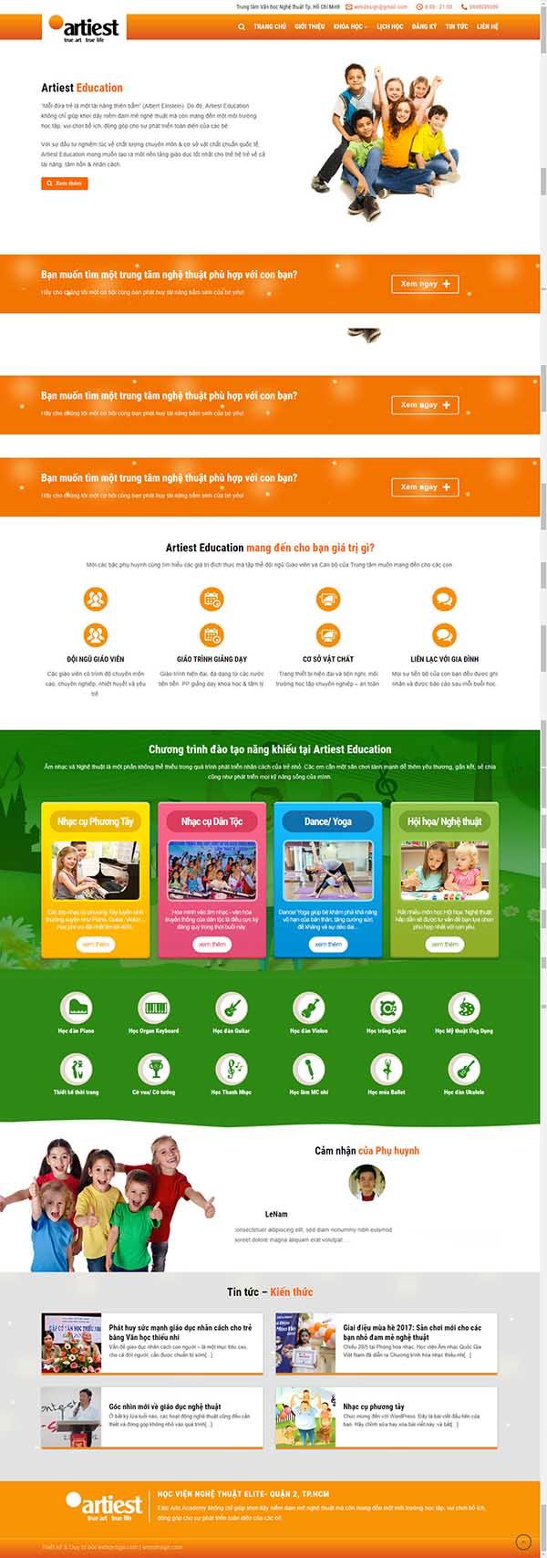 Thiết kế Mẫu website giáo dục đào tạo 04