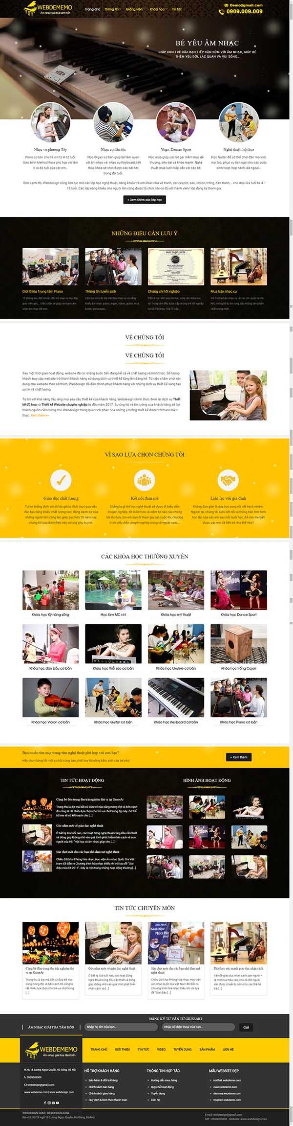 Thiết kế Mẫu website giáo dục đào tạo 06