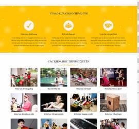 Mẫu website giáo dục đào tạo 06