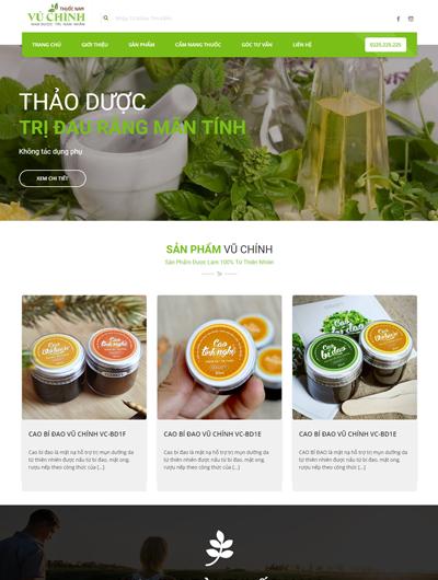 Thiết kế Mẫu website giới thiệu công ty dược phẩm