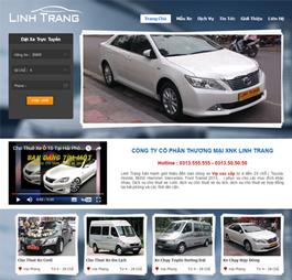 Thiết kế Mẫu website giới thiệu công ty ô tô - xe máy