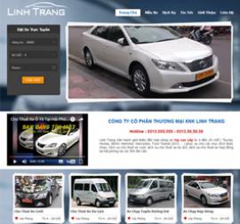 Mẫu website giới thiệu công ty ô tô - xe máy