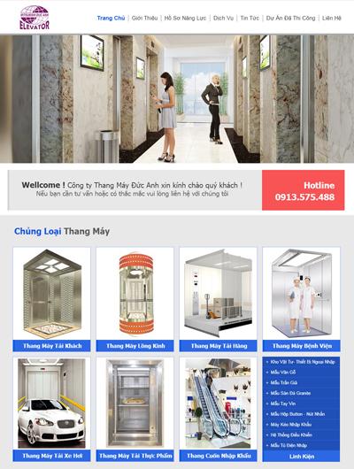 Thiết kế Mẫu website giới thiệu công ty thang máy
