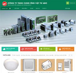 Thiết kế Mẫu website giới  thiệu công ty thiết bị điện nước