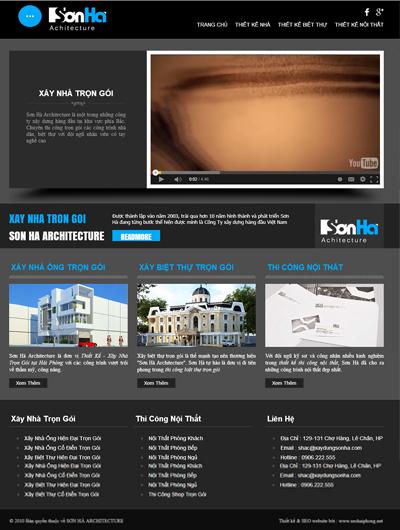 Thiết kế Mẫu website giới thiệu công ty xây dựng