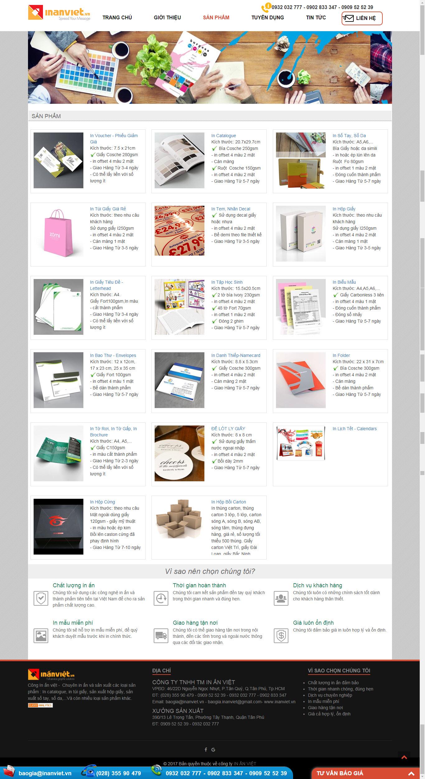 Thiết kế Mẫu website in ấn 04