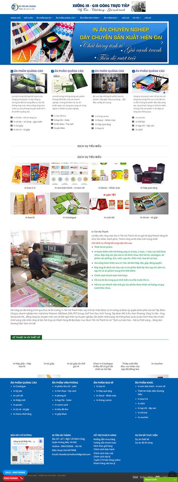Thiết kế Mẫu website in ấn 05