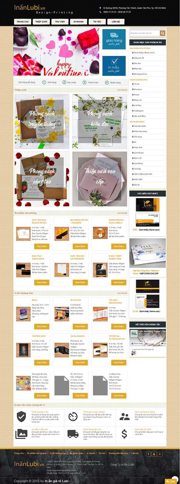 Thiết kế Mẫu website in ấn 08